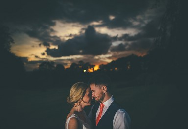 Bride & Groom with Epic Sunset