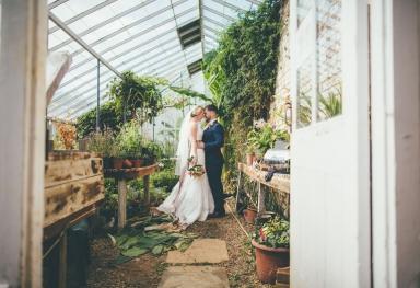 Bride & Groom Green House