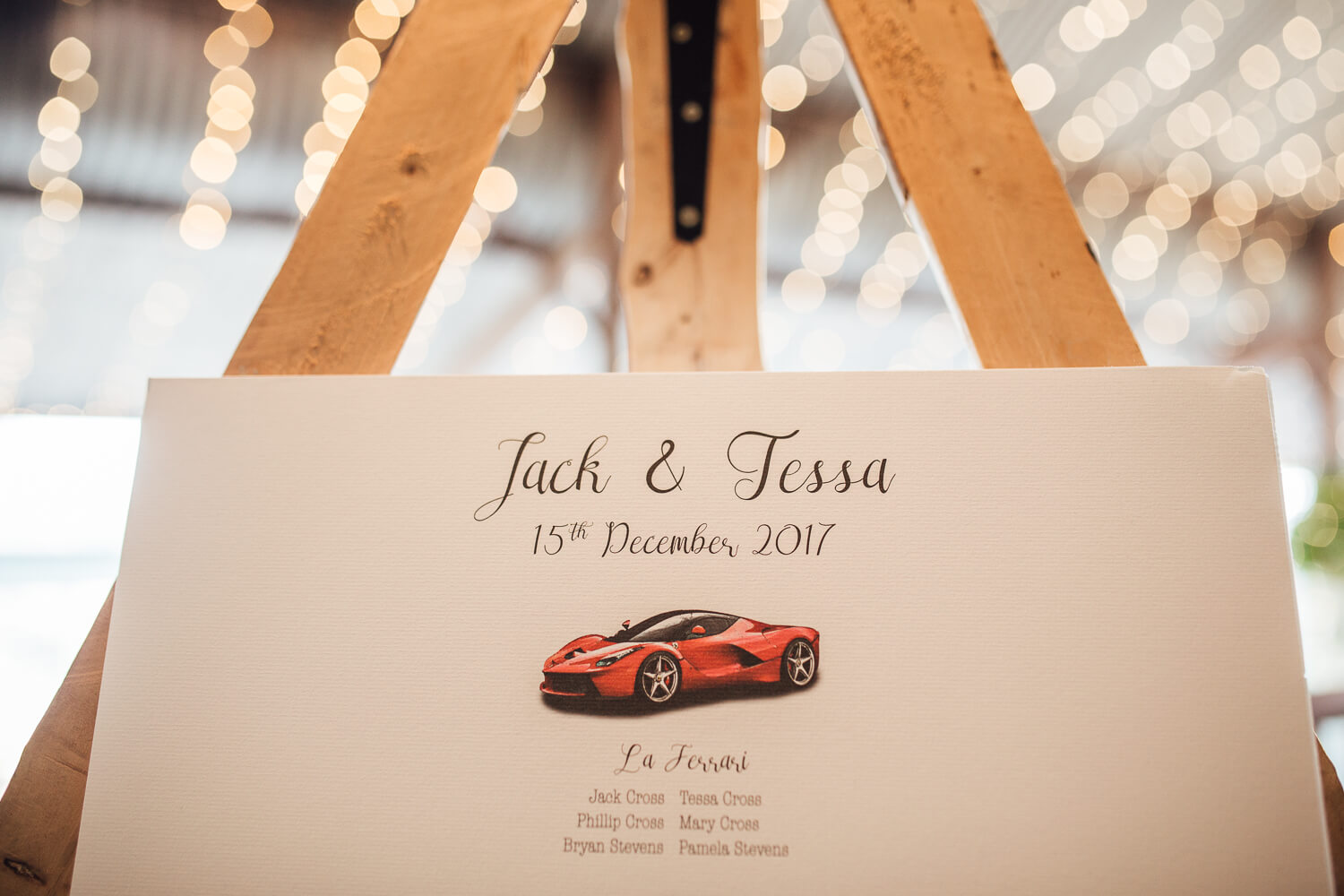 Ferrari Wedding Details
