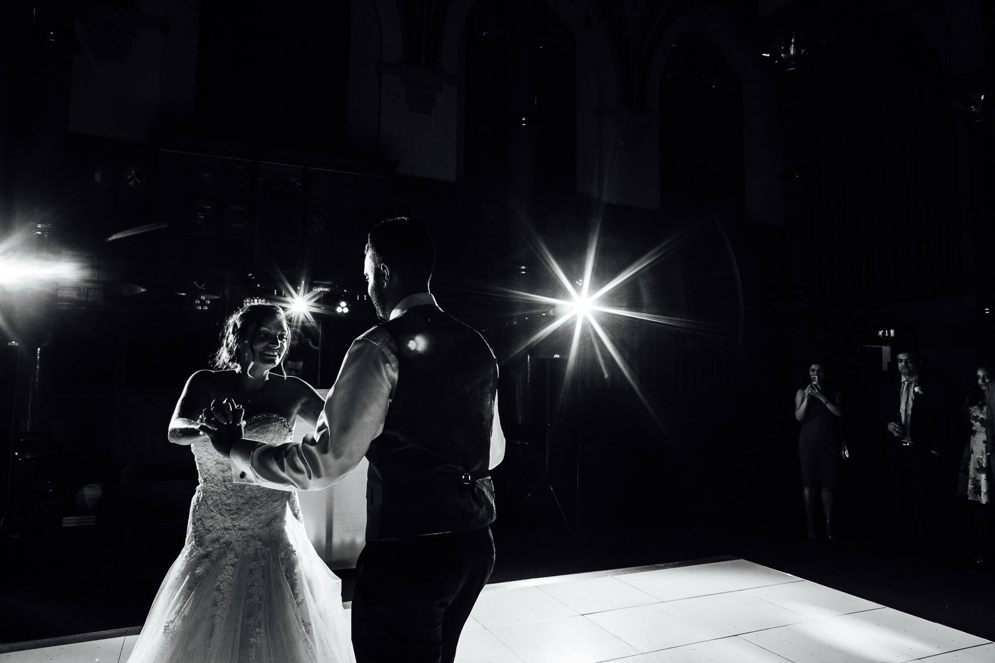 First dance couple shot