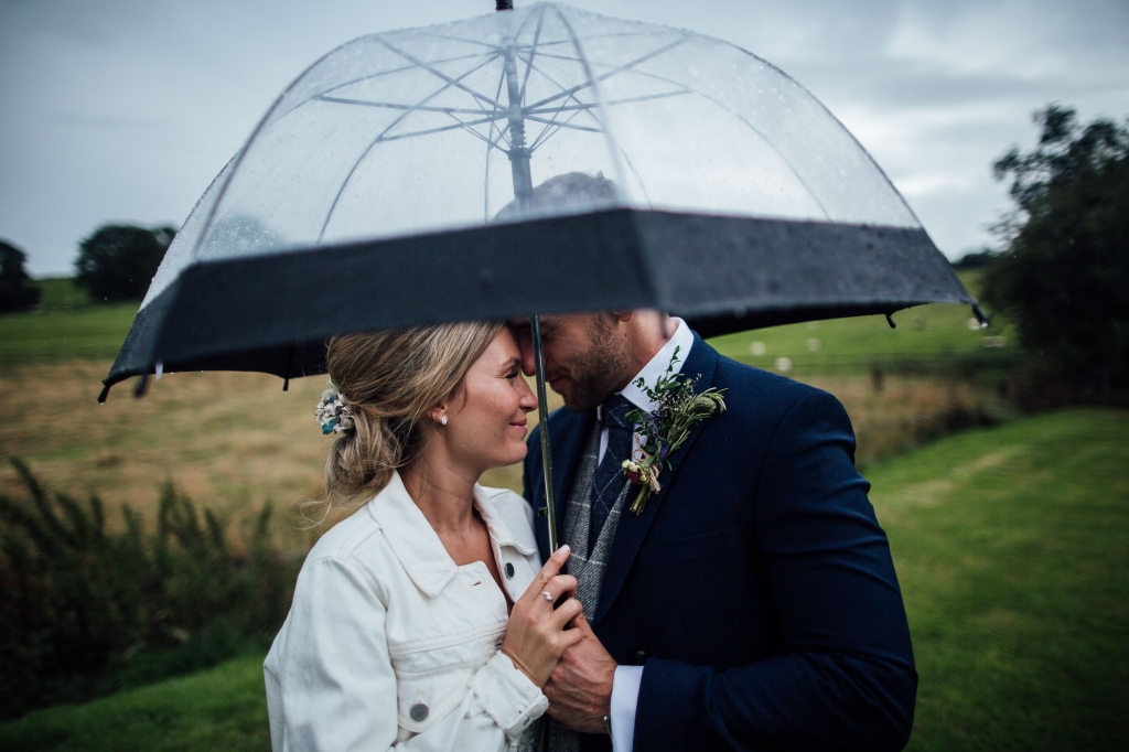 Rainy Wedding Portrait