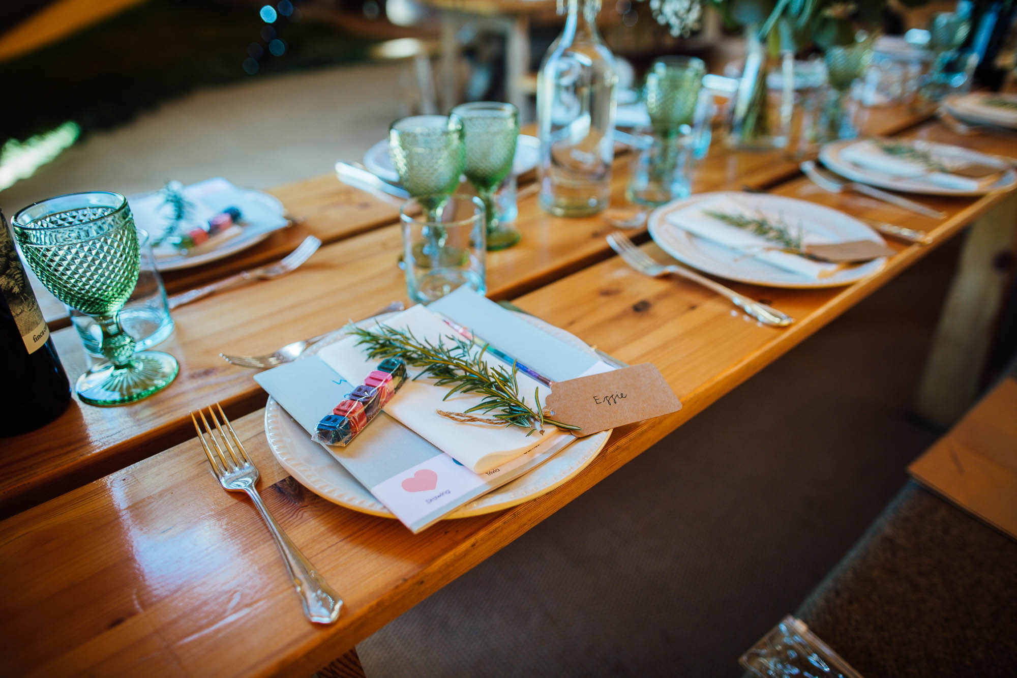 simple wedding tables