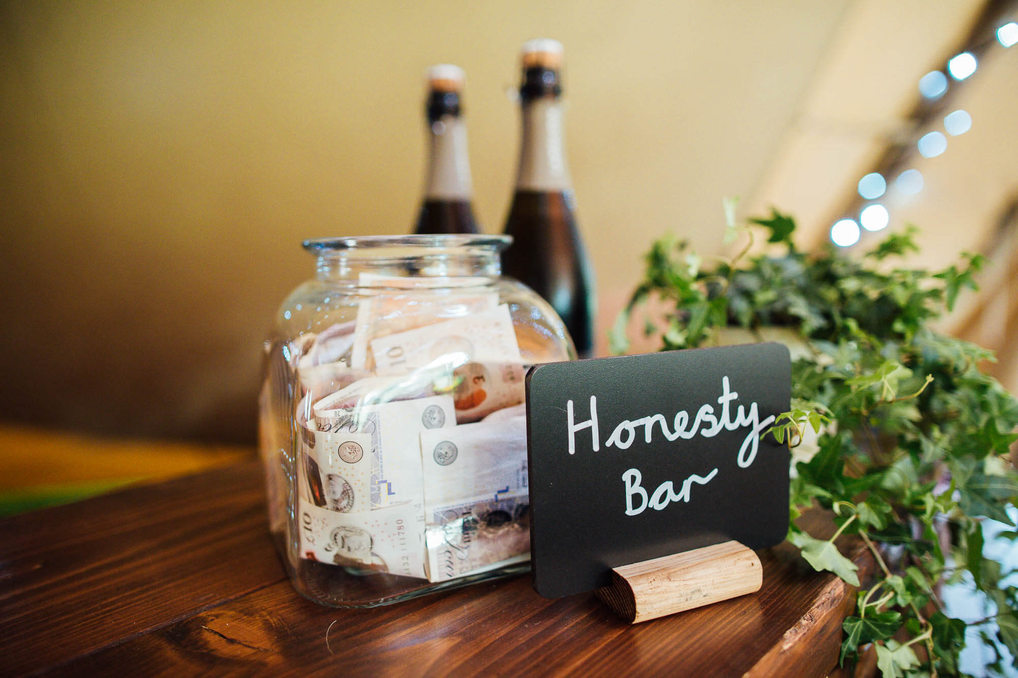 Wedding Honesty Bar