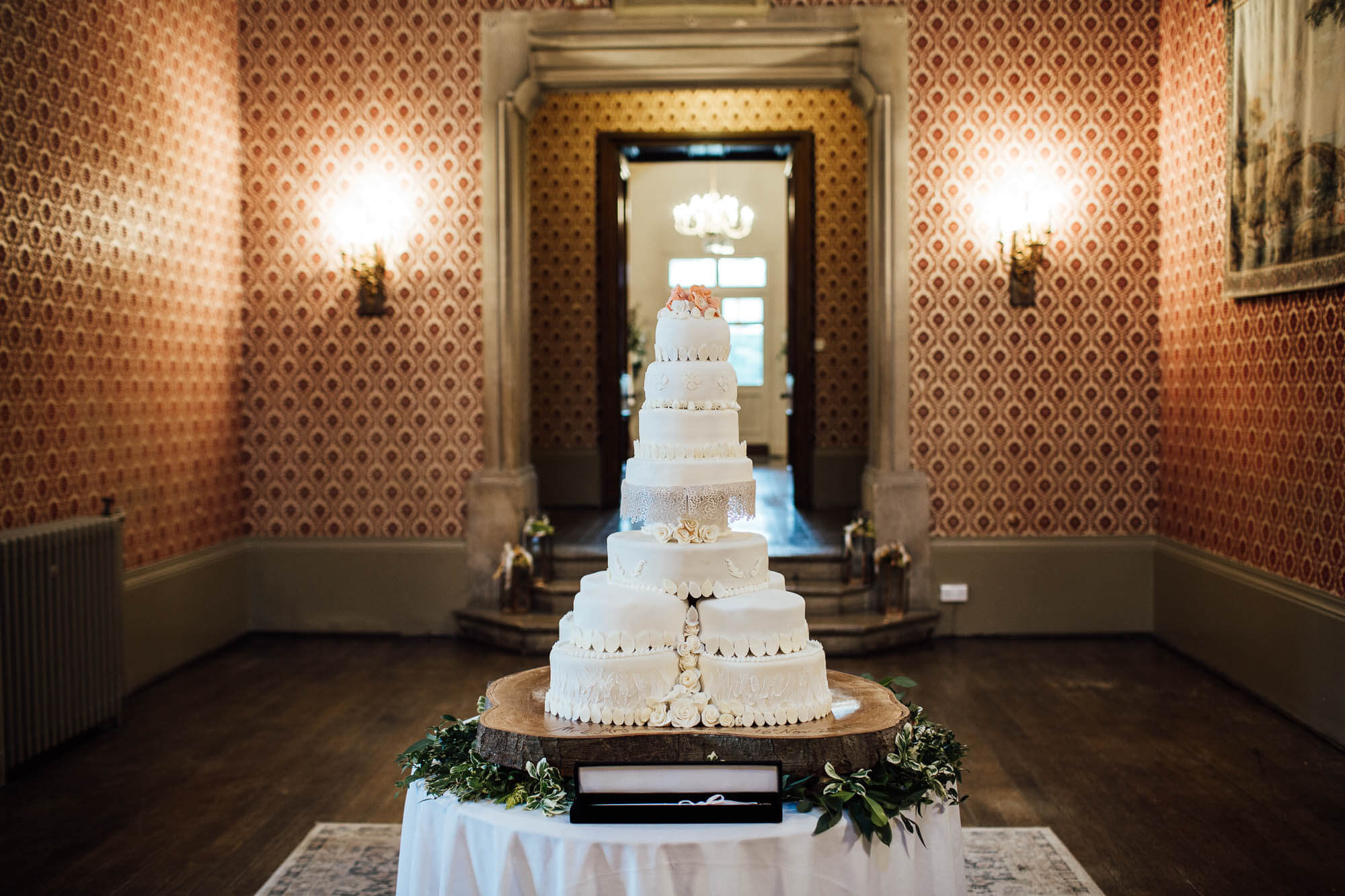 9 tier wedding cake