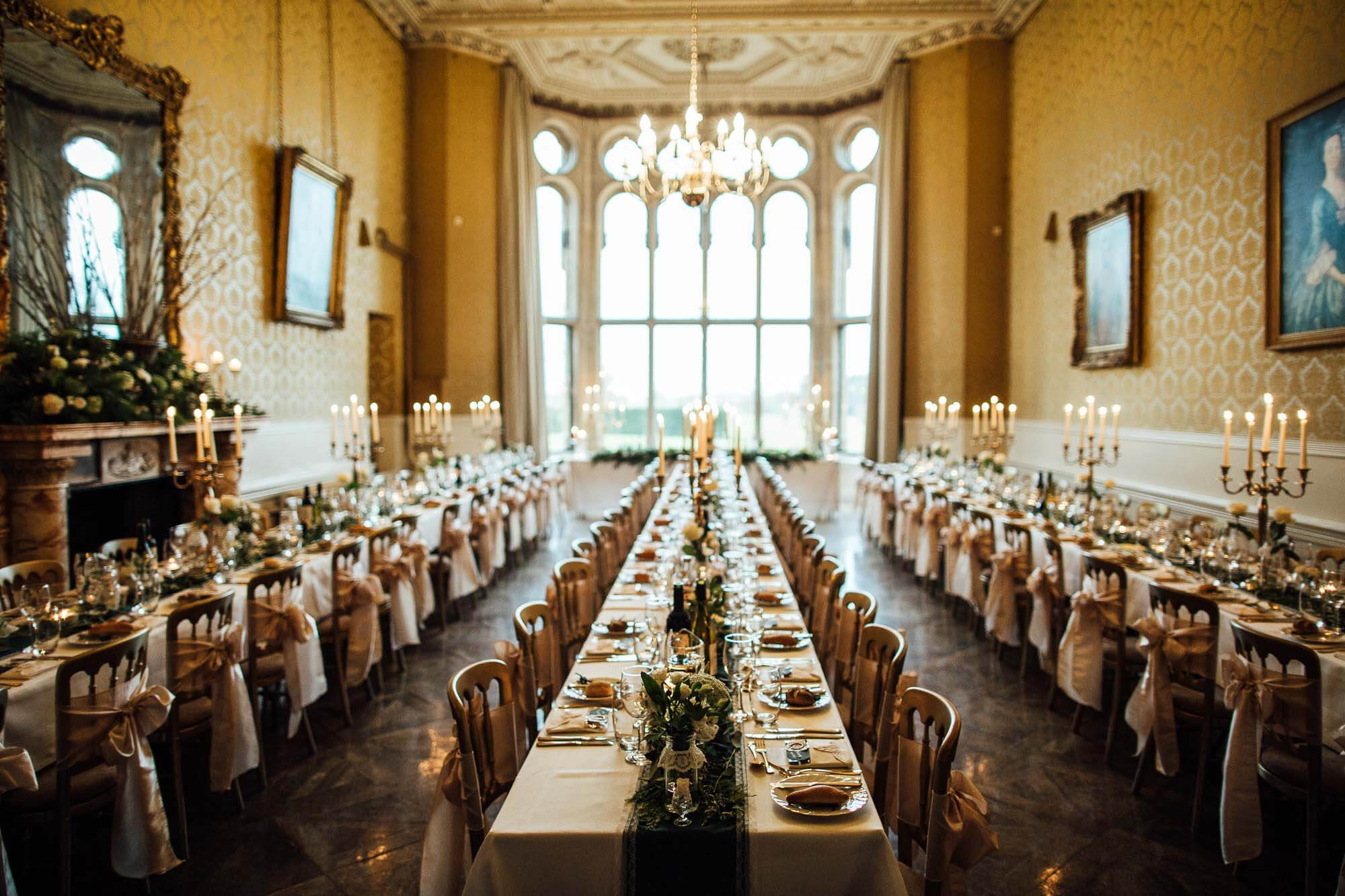 stunning wedding room