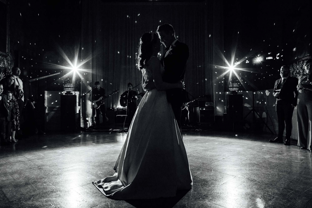 first dance black & white