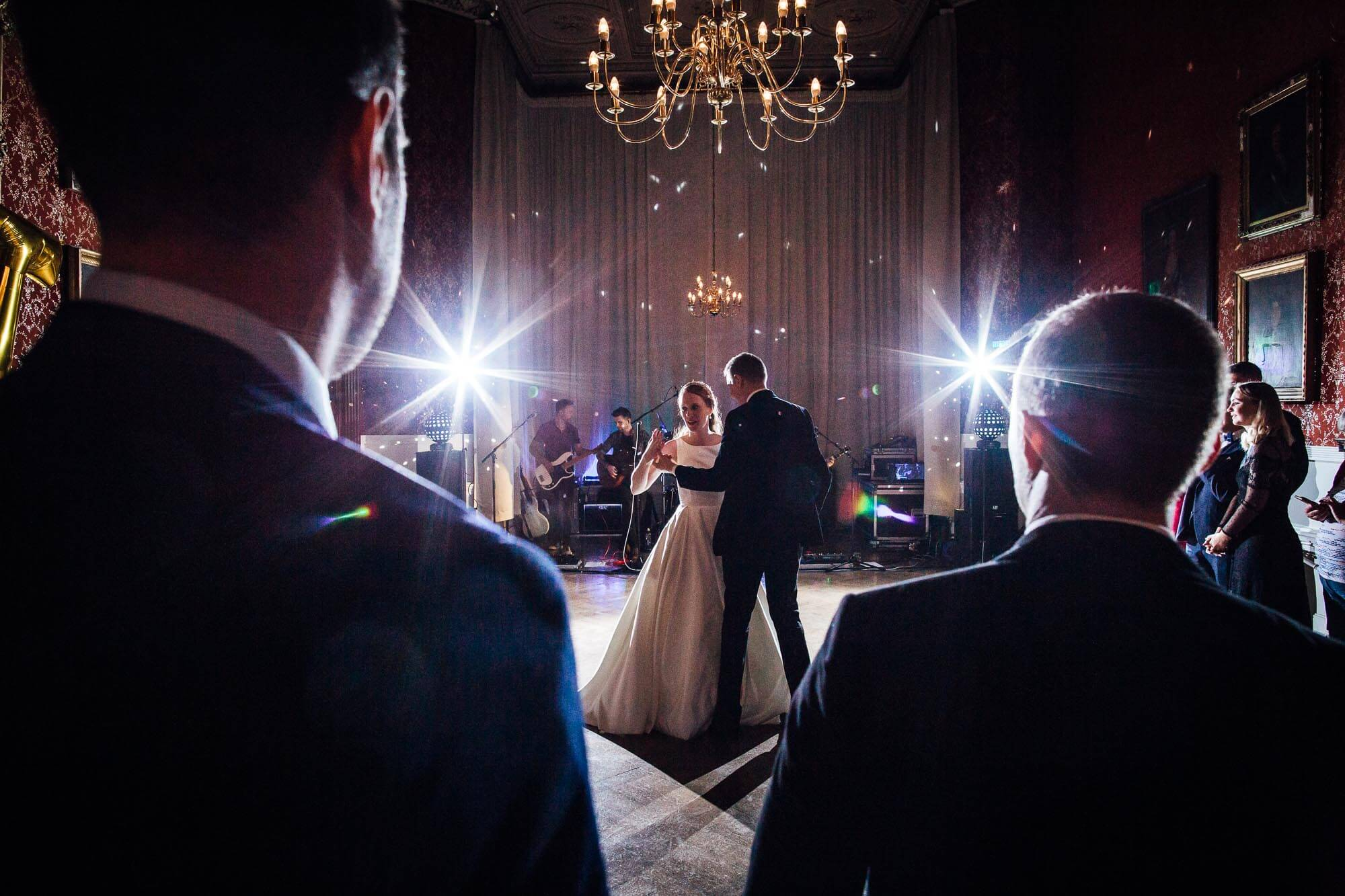 back lit first dance wedding photography